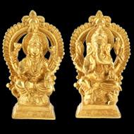 Lakshmi Ganesh in Brass V2