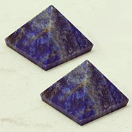 Lapis Lazuli Pyramid - Set of 2 - 51 gms