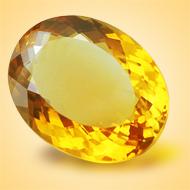 Yellow Citrine - 6.50 Carats - Oval