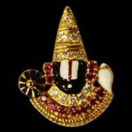Tirupati Balaji Locket in Pure Gold - Design I