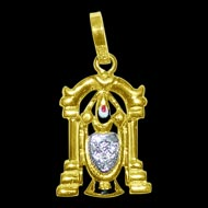 Tirupati Balaji Locket in Pure Gold - Design III