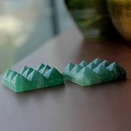 Green Jade 9 Pyramid grid - Set of 2