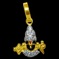Tirupati Balaji Locket in Pure Gold - Design V