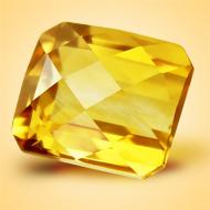 Yellow Citrine - 6.50 Carats - Square Cushion