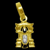 Tirupati Balaji Locket in Pure Gold - Design VI