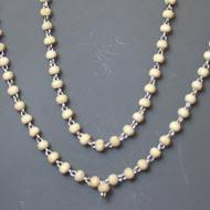 White Tulsi Mala in silver