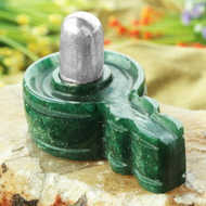 Parad Lingam with Green Jade  Yonibase - IV