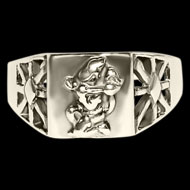 Hanuman Ring in Pure Silver - Design III