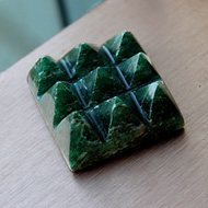 Dark Green Jade 9 Pyramid