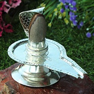 German Silver Yoni base with Lingam - Design ..