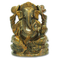 Tiger Eye Ganesha - 1590 gms