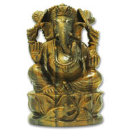 Tiger Eye Ganesha - 915 gms