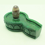 Narmada Lingam with Green Jade Yoni base