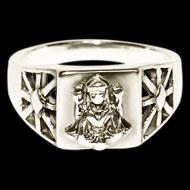 Lakshmi Silver Ring
