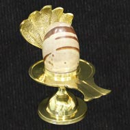 Brass Yoni base with Narmada Shivling - XXVIII