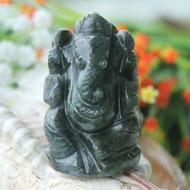 Iolite Ganesha - 75 gms