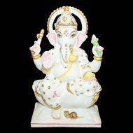 Chaturbhuj Ganesha in Marble