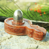 Parad Lingam with Red Jade  Yonibase - III