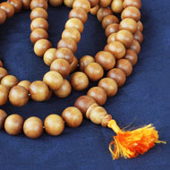 Sandalwood mala - Large beads