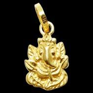 Ganesh Pendant in Gold - Design II