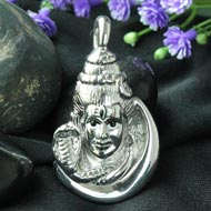 Shiva Locket in Pure Silver - Design II