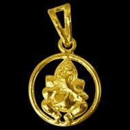 Ganesh Locket - in Pure Gold - Design I