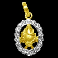 Ganesh Locket in Pure Gold