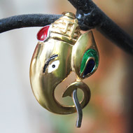 Gold Plated Ganesh Locket Pendant - Design IV