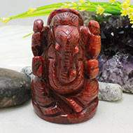 Red Jade Ganesh - 276 gms