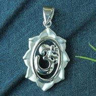 Om Locket in Pure Silver - Design III