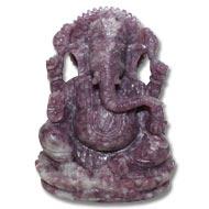 Lepidolite Ganesha - 567 gms