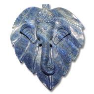 Lapis Lazuli Ganesha on a leaf
