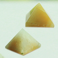 Pyramid in Natural (Yellow Jade) - set of 2 - II