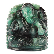 Emerald Ganesha - 114.70 Carats
