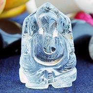 Sphatik Crystal Ganesha - 44 gms