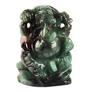 Emerald Ganesha - 53.35 Carats