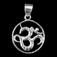 Om Locket - in Pure Silver - Design - XVII