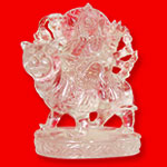 Goddess Durga in Quartz - 512 gm