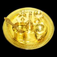 Designer Puja Thali in Brass