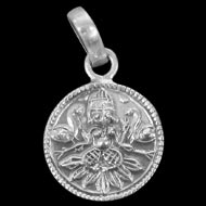 Lakshmi Locket - in Pure Silver - Design I
