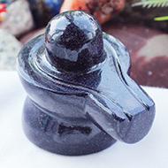 Blue Sunstone Shivaling - 79 gms