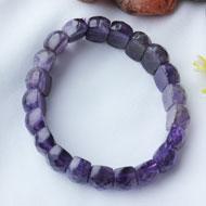Amethyst Bracelet - Faceted Beads - I