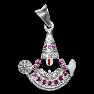 Tirupati Balaji Locket - in Pure Silver - Design I