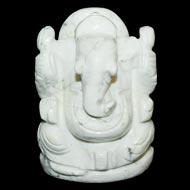 Howlite Ganesha - 158gm