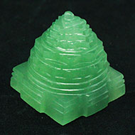 Light Green Jade Shree Yantra - 85 gms