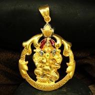 Ganesh Pendant in Gold - Design CI
