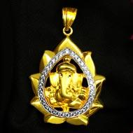 Ganesh Pendant in Gold - Design CII