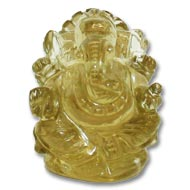 Ganesha in Lemon Topaz - 124 carat