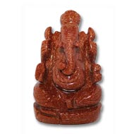 Sunstone Ganesha - 136 gm