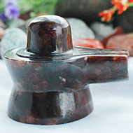 Gomed Hessonite Shivlinga - 118 gms